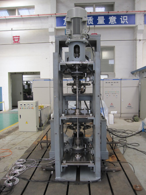 <img>Side view of the test rig