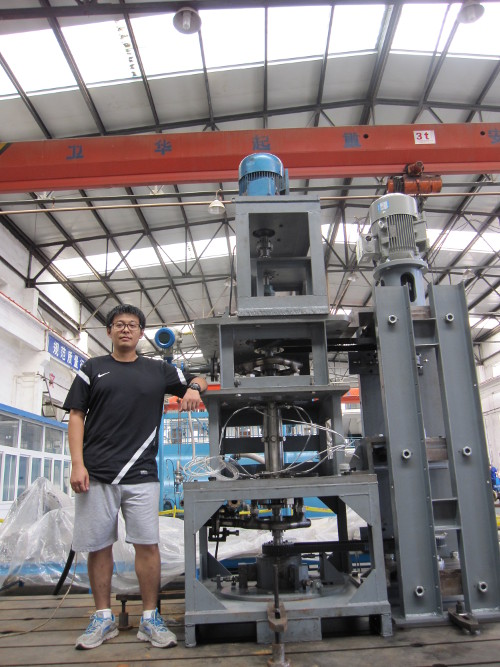 <img>The clearance flow test rig and me
