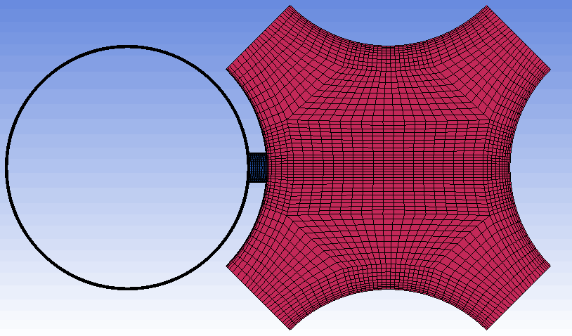 <img>Top-view of the mesh